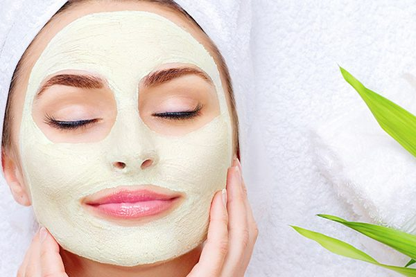 home spa with clay masks